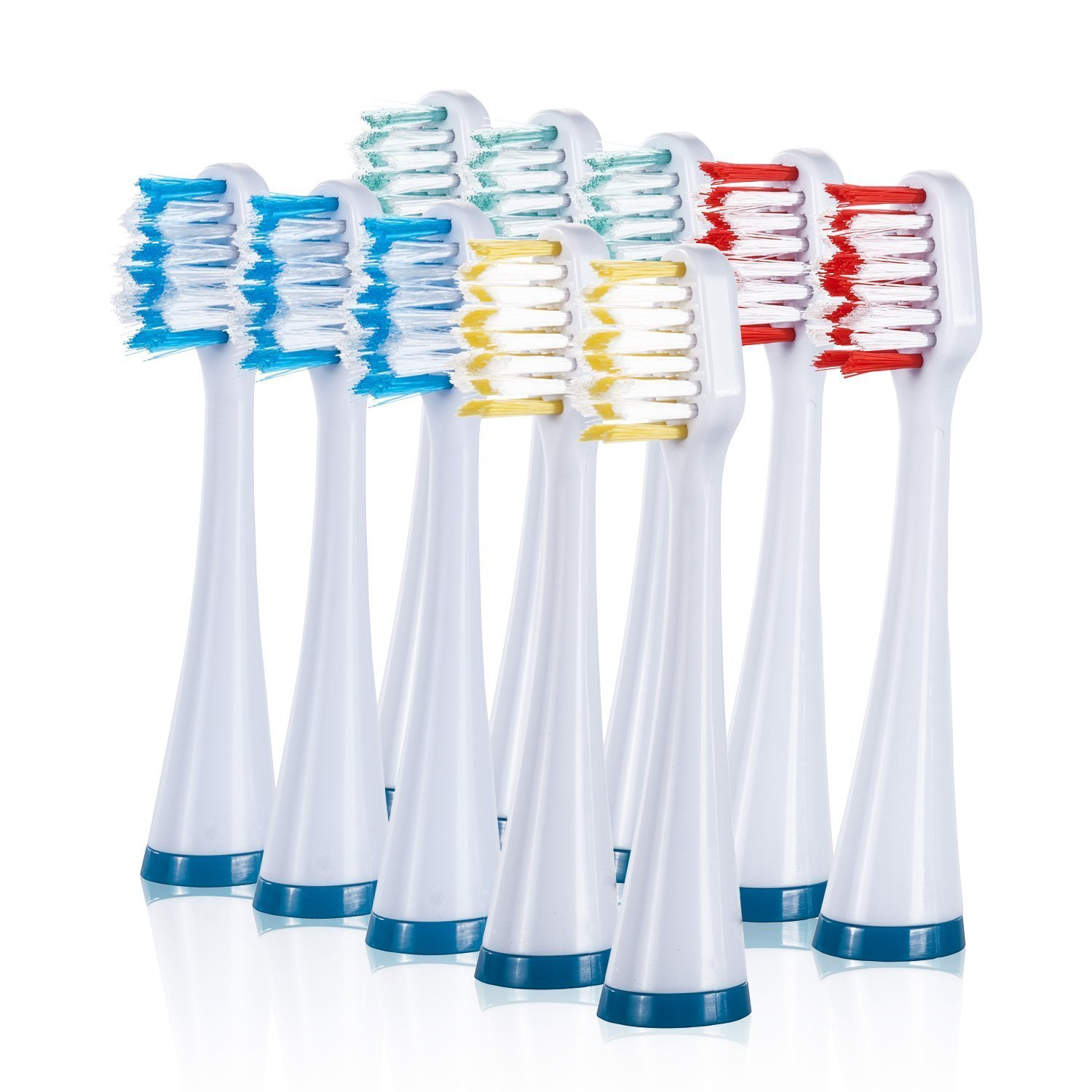 Modeled after the round shape of professional dental cleaning tools, Oral-B replacement brush heads work with any Oral-B brand electric toothbrush, except pulsonic, to deliver a superior clean vs. a regular manual toothbrush.