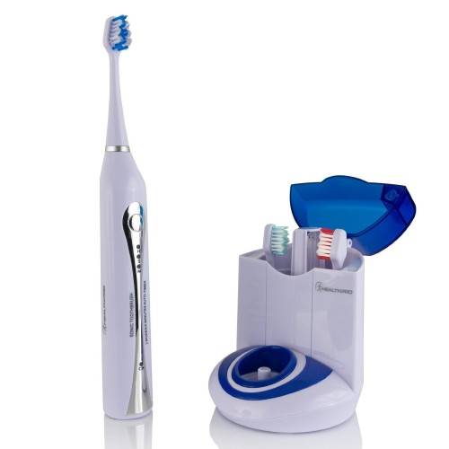 Wellness HealthPro UV-STX Ultra High Powered Sonic Electric Toothbrush with UV Sanitizing Dock Charger and 13 Brush Heads