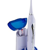 Wellness WEUVSTX3H Ultra High Powered Sonic Electric Toothbrush with UV Sanitizing Dock Charger and 3 Brush Heads