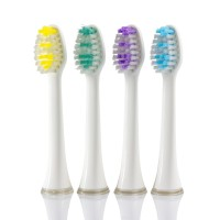 Wellness WTBH1 Replacement Heads for WTB48K Sonic Electric Toothbrush (4 Pack)