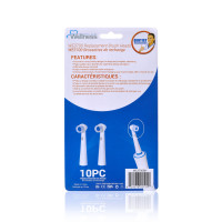 Wellness WE3700BH Replacement Heads for WE3700 Oscillating Toothbrush (10 pack)